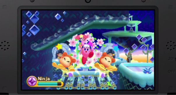 Kirby's Triple Deluxe 3DS Screenshot