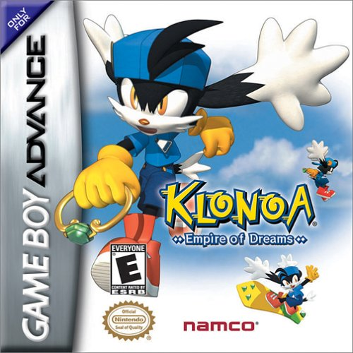 Klonoa: Empire of Dreams,  Game Boy Advance, Wii U, Box Art