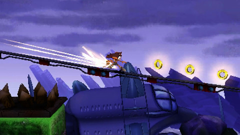 Sonic Boom: Shattered Crystal, Sticks, Nintendo 3DS