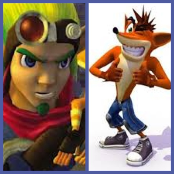 Jak and Daxter, Crash Bandicoot, Naughty Dog