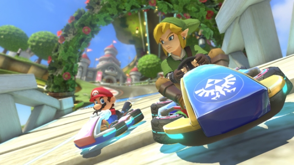 Mario Kart 8, Link, Mario, The Legend of Zelda, Wii U
