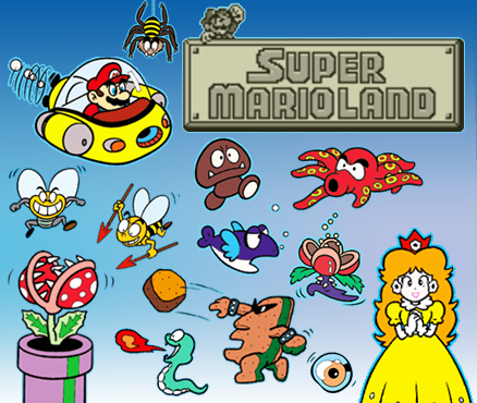 Super Mario Land characters, Nintendo, Game Boy, 3DS